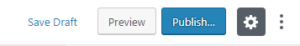 The right side of the header toolbar focuses on settings.